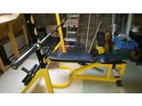 WEIGHTS BENCH SQUAT RACK OLYMPIC BAR