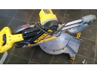 Dewalt DW708-LX type 3 sliding chopsaw and stand