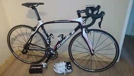 RIBBLE GRAN FONDO SPECIAL EDITION, SHIMANO 105 5800, SIZE 52cm full Carbon with sat nav