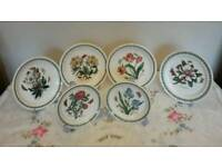 Portmeirion botanic garden dinner plate 4 10i .25 inch and 2 8 inch all brand new