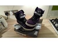 Odessa Apollo high-tops size 8 purple/white