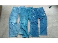 Men's combat cargo worker jeans