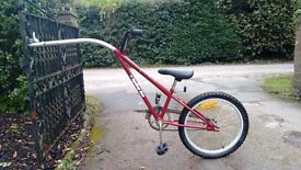 Bicycle extension for child with all fittings