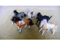 Ideal for Christmas. Set of five toy ponies