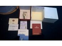 Omega Contellation 18ct Gold & Steel Mens Watch, Automatic Movement, Box and Papers, RRP £5620, VGC