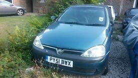 2001 Vauxhall Corsa 1.4 Automatic NEW MOT