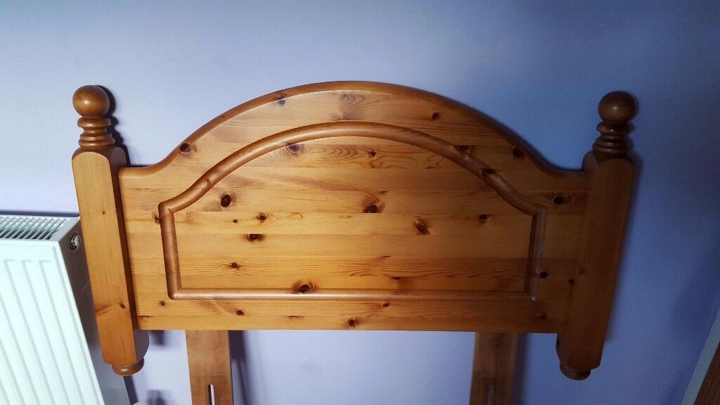Pine headboard for single bed