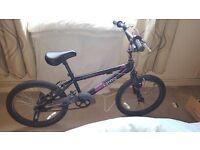 ZINC BMX BLACK AND PINK STUNT BIKE. HARDLY USED