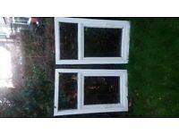 x2 BRAND NEW Set of uPVC Window Frames 68cm x 119cm