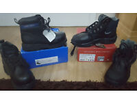 work safety boots size 9