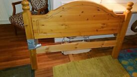 Pine head board & end