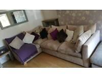 Corner sofa and footstool