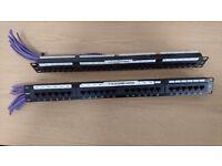 100-726 Excel Category 5e Unscreened Patch Panel 24 Port 1U - Black