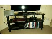 Curry's black glass TV stand