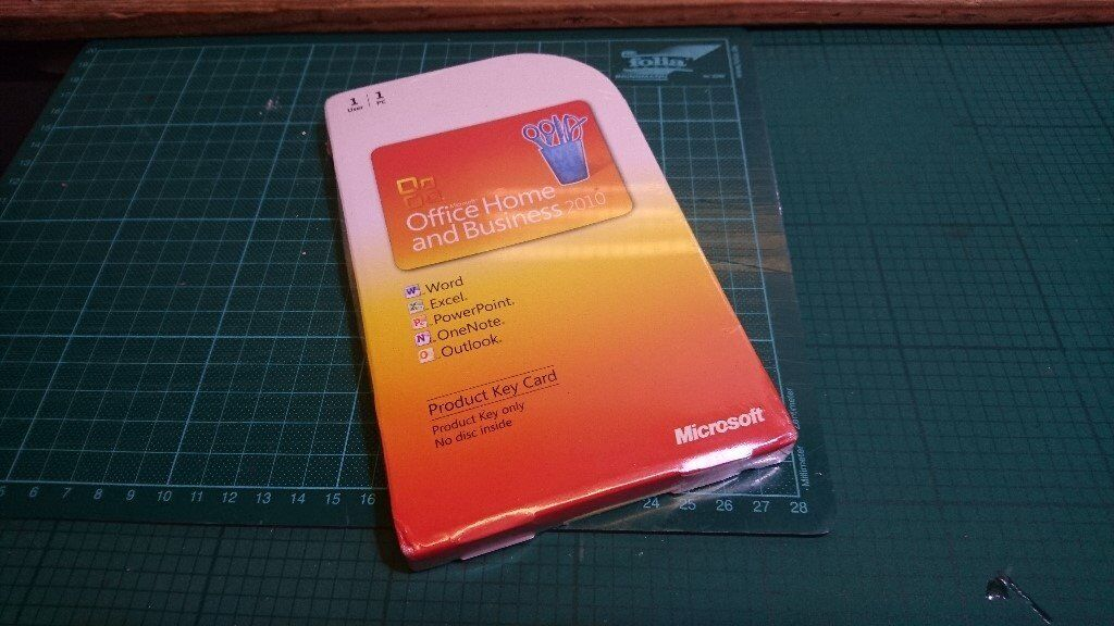 Microsoft Office 2010 Home And Business English GENUINE PRODUCT KEY ...