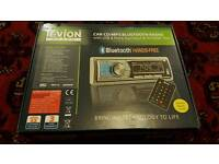 Tevion car radio mp3 cd aux usb memory card player with blutooth and remotecontrol