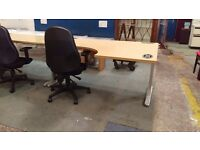 Modern office corner desk with office chair