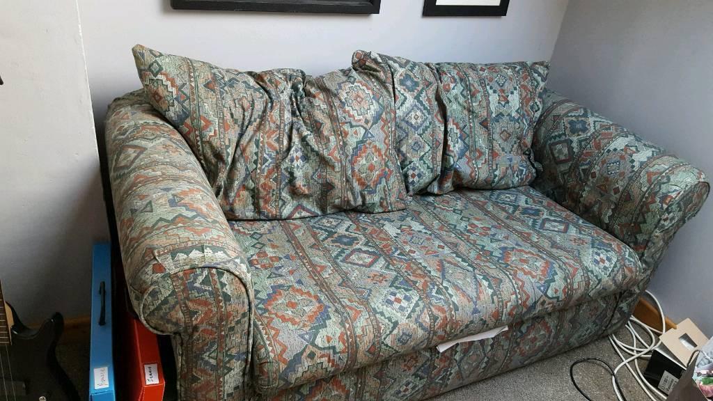 FREE Grey geometric print sofa and sofa bed