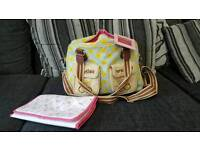 Pink Lining Mama Et bebe Nappy Bag with mat VGC Sunflower design