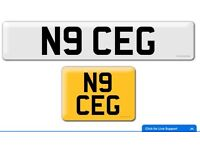 N9 CEG private cherished personal personalised registration plate number