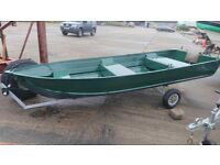 ALUMINIUM BOAT ,OUTBOARD £1950 WOULD CONSIDER PART EXCHANGE