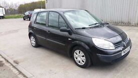 Black Renault Scenic-Petrol-52012 miles-CD,USB,AUX,MP3--Huge Boot Space-MOT Oct 17 - £750 ono