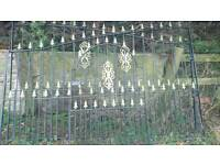 Iron gates with gold detail
