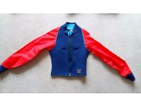Wetsuit Spray Jacket Youth Medium Blue Body Red Arms Hot Surf Sailing Canoeing