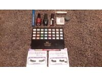 Eye shadow palette, nail varnish and other cosmetics - bundle, used
