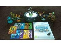 Wii Skylanders Game and Figures