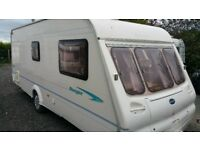2002 bailey ranger 550 6 berth fixed bunks touring caravan with full awning