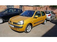 2003 Renault Clio. Low Milage. Service History. 1 year MOT