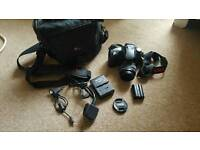 Pentax K10D DSLR, SLR, with 18-55mm lense, Camera bag, charger, USB cable, and lense cap