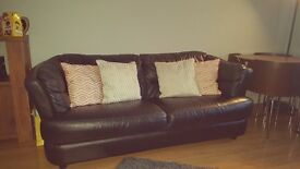 Leather 3seater sofa for sale