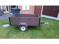 3ft x 5ft box trailer with lid frame