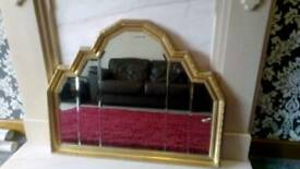 Stunning Large Gold Style Living Room Mirror