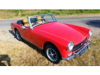 MG Midget 1275 RWA 1972 New Engine Gearbox Suspension and Brakes