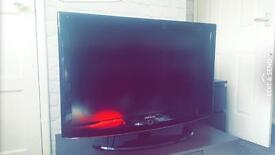 """Samsung 37"""" hd ready tv with tv cabinet"""