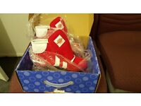 ROOKIE RETRO RED White QUAD WHEELS ROLLER SKATES UK SIZE 3