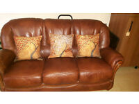 Two piece Italian Leather suite