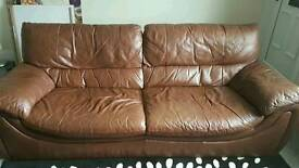 3 seater &2 seater leather settees