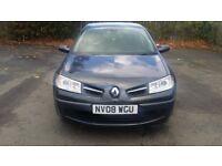 2008 renault megane 1.6 vvt expression petrol 5 door hatchback 68,000 miles service history