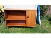 Vintage storage unit sideboard display cabinet shelf retro