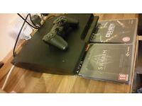 PS3 SLIM 320GB BLACK ONE GENUINE PAD 2 GAMES