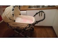Roan pram stroller with car seat , plus 2 extra seats and bag.