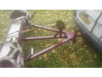 Car dolly trailer towing transporter