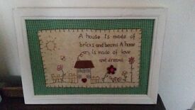 BRAND NEW Wall hangings- qoutes/shabby chic