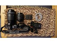 Olympus e-410 Digital Camera with Lenses and Accessories