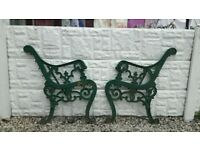 cast iron bench ends / garden bench / outdoor furniture / patio / garden furniture / vintage bench