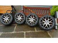 Alloys and tyres to fit Audi or Mercedes